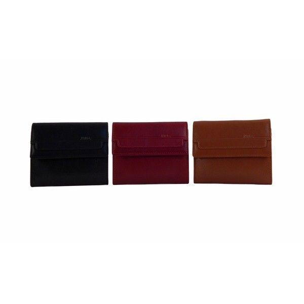 Monedero de piel disponible en tres colores