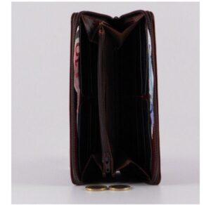 Billetero de señora de piel con cremallera