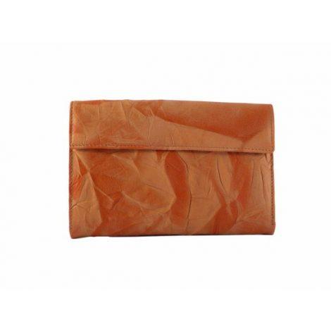 Billetero piel mujer mediano de Nilo en color naranja o verde