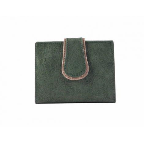 Billetero pequeño para mujer en piel Nilo color beis o verde