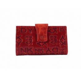 Billetero DK para mujer de tamaño mediano en charol rojo