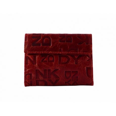 Billetero pequeño en piel charol rojo DK
