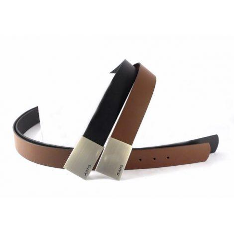 Cinturón de piel vaqueros chapa