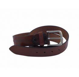 Cinturón de piel negro Miguel Bellido