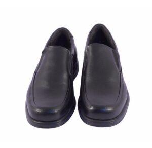 Zapato ancho especial de pala alta en negro Tolino