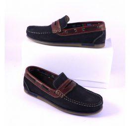 Zapatos Leyland mocasín sport marino y cuero