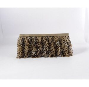 Cartera cocktail volantes de leopardo