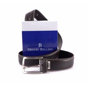 Cinturón Miguel Bellido pespuntes en marrón