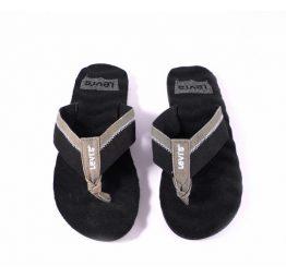 Chanclas Levi´s goma eva negro y gris