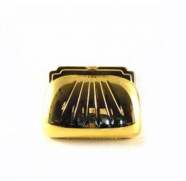 Clutch metálico dorado