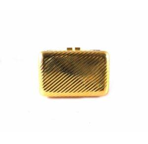 Clutch metálico dorado rayado