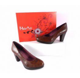 Zapatos de salón Marila en piel marrón