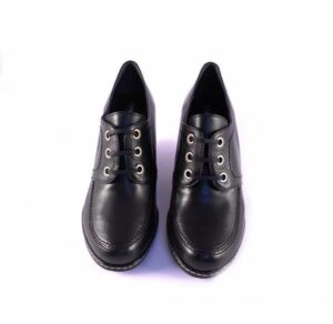Zapatos Pasther abotinado con cuña y cordones