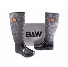 Botas de agua B&W grises con negro
