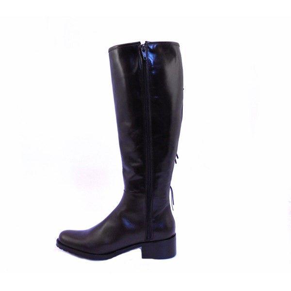 nuevo producto cd9ee d7a68 Botas altas piel mujer estilo montar Vitti Love marrón oscuro