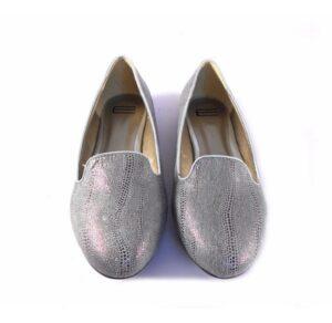 Slippers plateados E.Ferri print