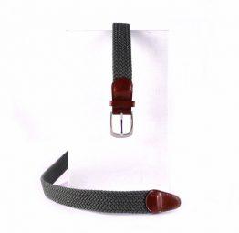 Cinturón elastico trenzado Nilo verde militar
