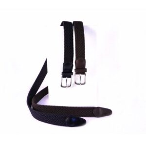 Cinturón elastico trenzado Nilo marrón