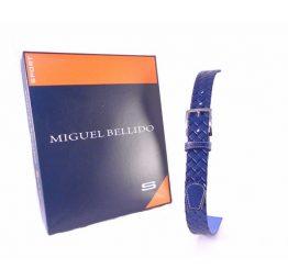 Cinturón Miguel Bellido trenzado print azulón