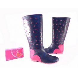 Botas altas Agatha Ruiz de la Prada marino con rosa