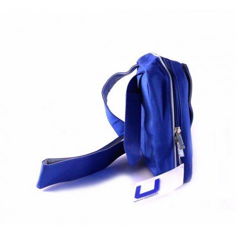 Bandolera AD unisex nylon azul horizontal