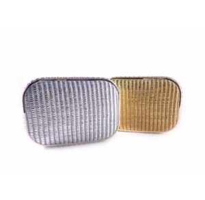 Clutch rafia E.Ferri oro y plata
