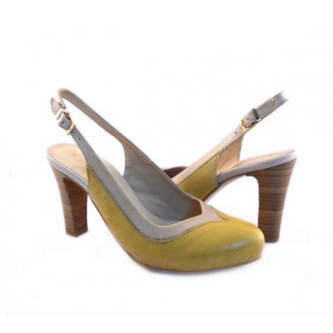 talla 40 67ecc c62e8 Zapatos tipo salón Virus Moda amarillos y beis