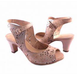 Zapatos Virus beis picado