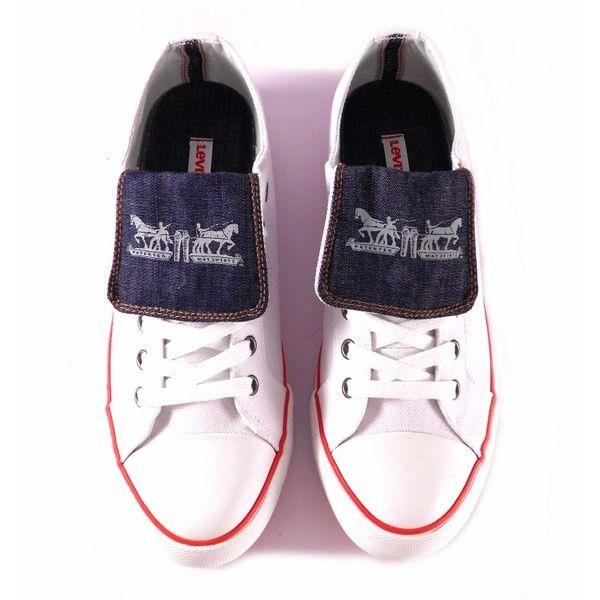 Zapatillas Levis lona con solapa blancas