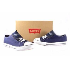 Zapatillas Levis lona con solapa azul