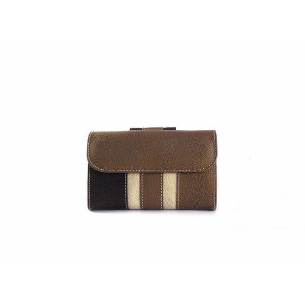 Billetera piel Nilo pequeño combinado taupe