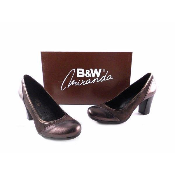 Salones B&W color marrón ante con metalizado al tono