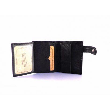 Billetera piel Nilo con presilla y monedero en negro