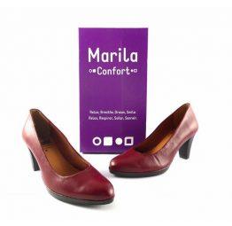 Salones Marila Confort y Relax en color burdeos