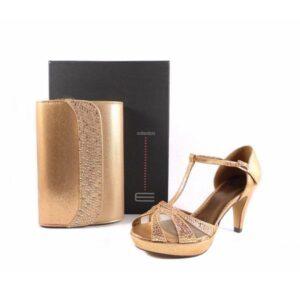 Sandalias E.Ferri en T oro/bronce