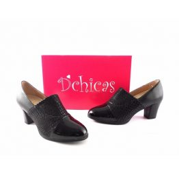 Zapatos D´Chicas confort charol negro