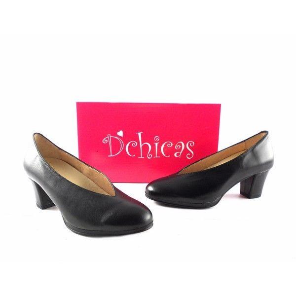 08186b4cd57 Zapatos D´Chicas Confort salones negros