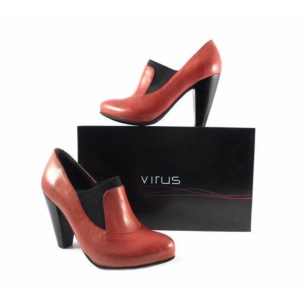 Zapatos Virus Moda rojo cereza con elástico