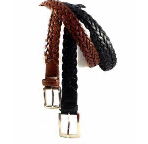 Cinturón trenzado piel Nilo