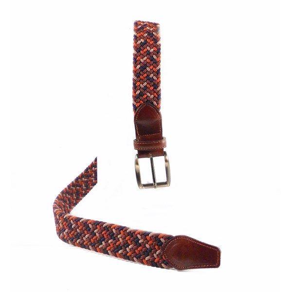 Cinturón elástico trenzado combinado