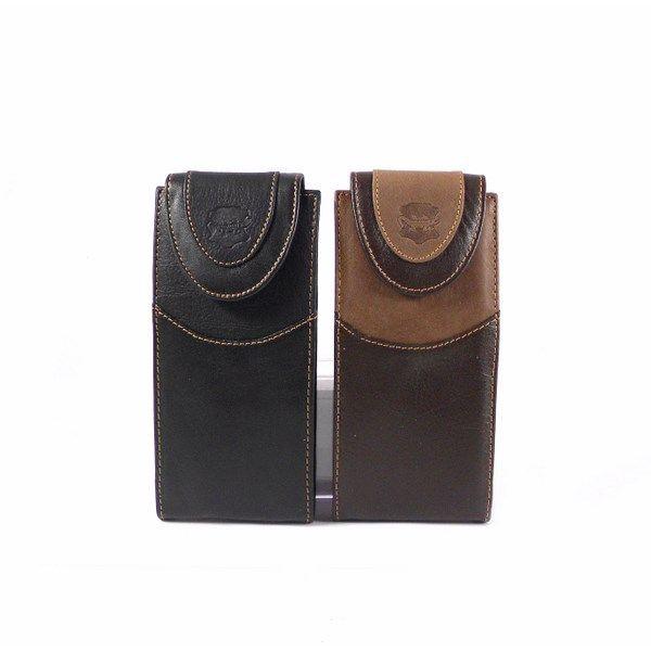 Funda de gafas en piel Nilo color marrón o negro