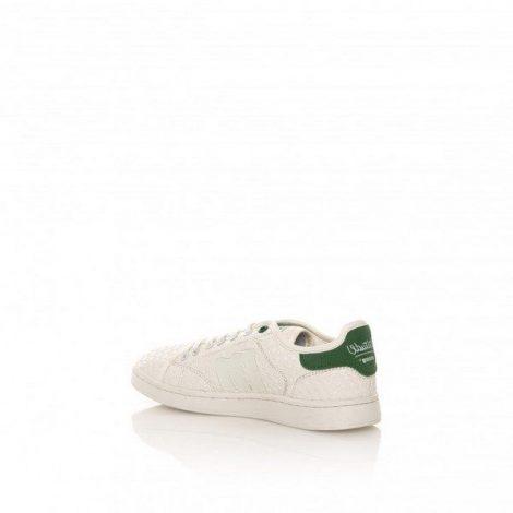 Tennis Mustang modelo 69750 color blanco con logo en verde