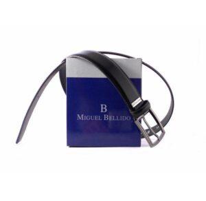 Cinturón Miguel Bellido en piel color negro brillo