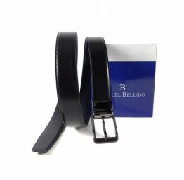 Cnturón reversible Miguel Bellido negro con azul marino
