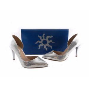 Zapatos de salón Daniela Vega plateados