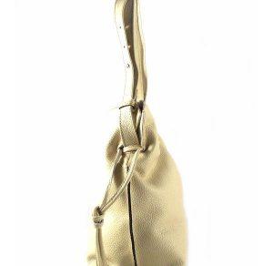 Bolso tipo saco Bkey en piel color beis