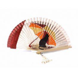 Abanico de madera natural de gato bajo paraguas de Aire distinto