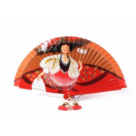 Abanico Aire Distinto de Menina en color rojo modelo 5236