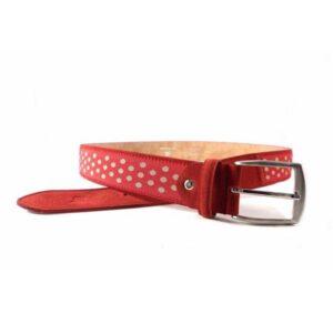 Cinturón Titto Bluni topos en rojo o en marrón