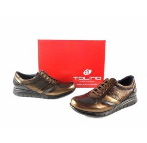 Zapatos mujer Tolino Confort light 15013 Metal Bronce